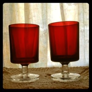 Vintage Two-Toned Wine Glasses